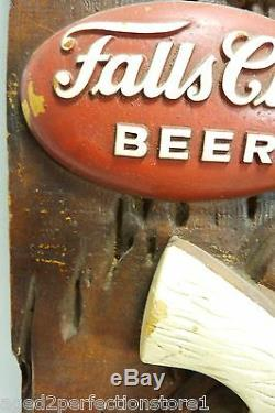 Vintage FALLS CITY BEER Advertising Store Display Sign Pistol Holster 3d HtF