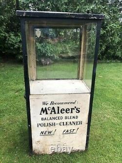 Vintage Gas Station Island Oil Display Cabinet Mcaleers Sign Sunoco Texaco