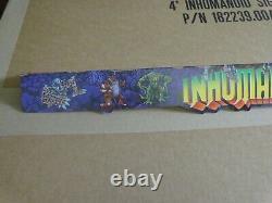 Vintage Hasbro 1986 INHUMANOIDS Shelf Talker Sign Toy Store Shelf Display unused