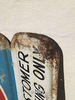 Vintage Heavy Metal Store Display Sign Advertising RC Royal Crown Cola Soda