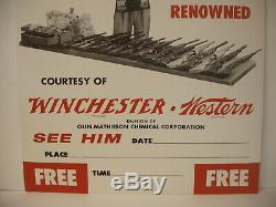 Vintage Herb Parsons Showman Shooter Winchester Western Cardboard Store Display