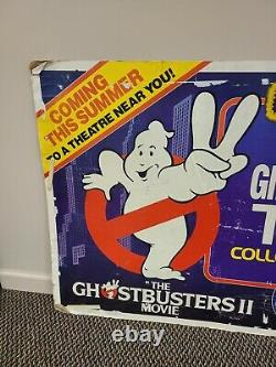 Vintage Kenner The REAL Ghostbusters 1989 Toy store hanging display sign 4 feet