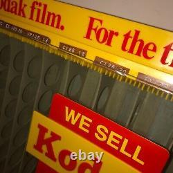 Vintage Kodak Camera FILM Store Counter Or Wall Advertising DISPLAY Dispenser