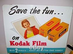 Vintage Kodak Counter Store Display Gravity Fed Film Dispenser+29 Unopened Films