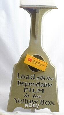 Vintage Kodak Dealer Wooden Display Film Camera Advertising Store Shelf Counter