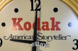 Vintage Kodak Film Camera Plastic Dealer Display Advertising Sign Clock Rare