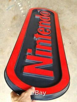 Vintage Large Nintendo Hanging Store Display Sign 1980s
