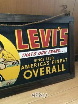 Vintage Levi's 501 Denim Banner Tapestry Signboard Sign Not Sold in Stores