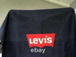 Vintage Levis Selvedge Denim banner Store Display Advertising Sign Rare Redline
