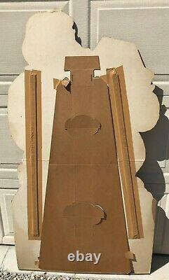 Vintage Life Size Christmas Santa Claus 5' Cardboard Stand Up Store Display 1958