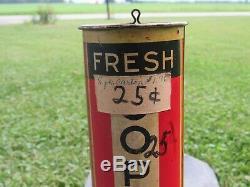 Vintage Metal Copenhagen Chewing Tobacco Store Dispenser Sign Old Snuff Display