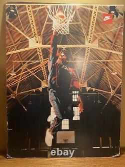 Vintage Michael Jordan Nike Air Rare double-sided advertising display sign 1980s