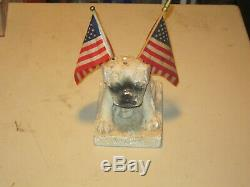Vintage Morses Pure Pops Chalkware Pug Dog, Candy Store Counter Display 1930-40s