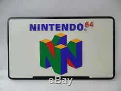 Vintage NINTENDO 64 N64 Promo Retail Store Acrylic Display Sign Double-Sided