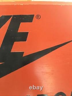 Vintage Nike Wooden Display Sign Late 1970s Hard To Find BLM Great For Autos