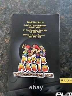 Vintage Nintendo Gamecube Kiosk Store Display Sign Insert Paper Mario Pikmin Fox