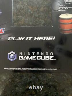 Vintage Nintendo Gamecube Kiosk Store Display Sign Insert Zelda Mario Geist