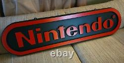 Vintage Nintendo M17A 1988 Two Sided Hanging Store Display Sign