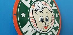 Vintage Piggly Wiggly Porcelain Gas General Store Grocery Market Display Sign