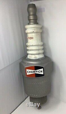Vintage Plastic CHAMPION Spark Plug Store Display Promo Advertising Sign