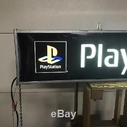 Vintage Playstation Video Game Console Light up Sign Promo Store Display 36X8