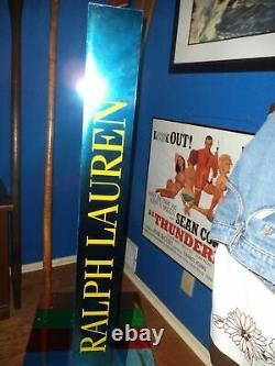 Vintage Polo Ralph Lauren Big Pony Cologne Display Shelf Store Furniture