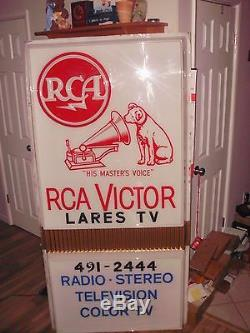 Vintage RCA Victor Television Dealer Store Display Sign Columbus Lares TV record