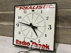 Vintage RadioShack Store Display Advertising Clock Sign Very Scarce
