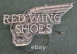 Vintage Red Wing Shoes Neon Sign Advertising