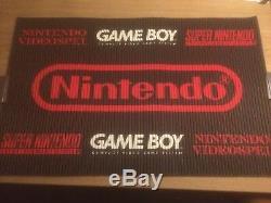 Vintage Retro Store Display Advertising Sign Nintendo Gameboy Super SNES NES
