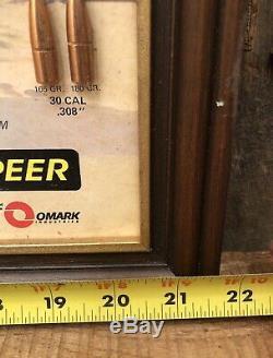 Vintage SPEER Ammunition Hunting Store Advertising Sign Bullet Samples Display