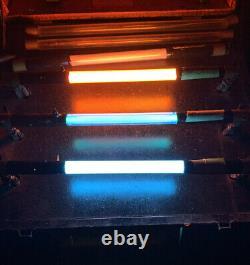 Vintage Salesman Sample Neon Sign Light Color Tubes Sample Display Case Working