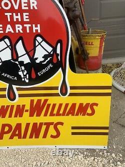 Vintage Sherwin Williams Paint Sign Original Porcelain Sign