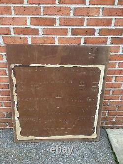 Vintage The National Screw & Mfg Co Bolt Hardware Sign Store Display Advertising