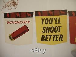 Vintage Winchester Western Six Panel Hanging Display Banner Store Display # 2