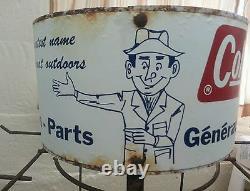 Vintage advertising display coleman rack sign lantern generator