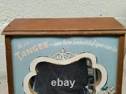 Vintage advertising lips lipstick tangee sign general store display