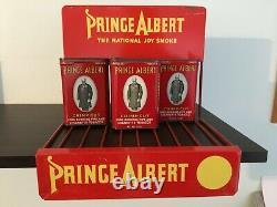 Vintage1950s Prince Albert advertising store display-tobacco-antique-sign-tins