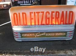 VintagePrice Brothers light up whiskey sign. Old Fitzgerald