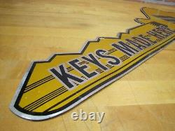 Vtg ILCO KEYS MADE HERE 2x Hardware Store Display Advertising Figural Trade Sign