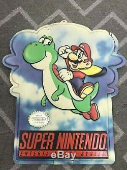 Vtg Sign Super Nintendo Nes M80Y YOSHI MOBIL Super Mario World Display Store