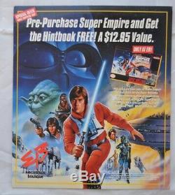Vtg Star Wars ESB Super Nintendo Counter Store Display Sign