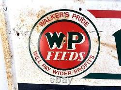 Walkers Pride Feed Sign Metal Chalkboard Farm Seed Store Display Cattle 40