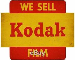 We Sell Kodak Film Bright Red Yellow Heavy Duty USA Made Metal Advertising Sign