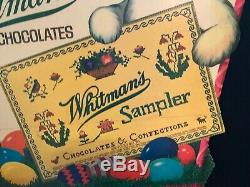 Whitmans Chocolates Vintage Easter Display Advertising Sign Store Display