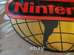 World of Nintendo Globe Sign Video Game Store Display NES Authentic RARE