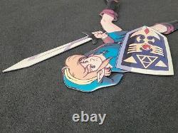 World of Nintendo LEGEND OF ZELDA LINK Sign SNES M35C Display Store Promo NES