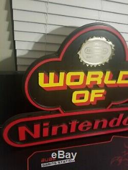 World of Nintendo Sign Original Free Shipping