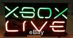 Xbox Live Neon Sign. Vintage Retail Store Display