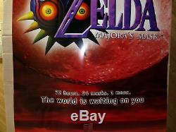Zelda Majora's Mask Poster Nintendo Promo Display Store Sign twin towers majoras